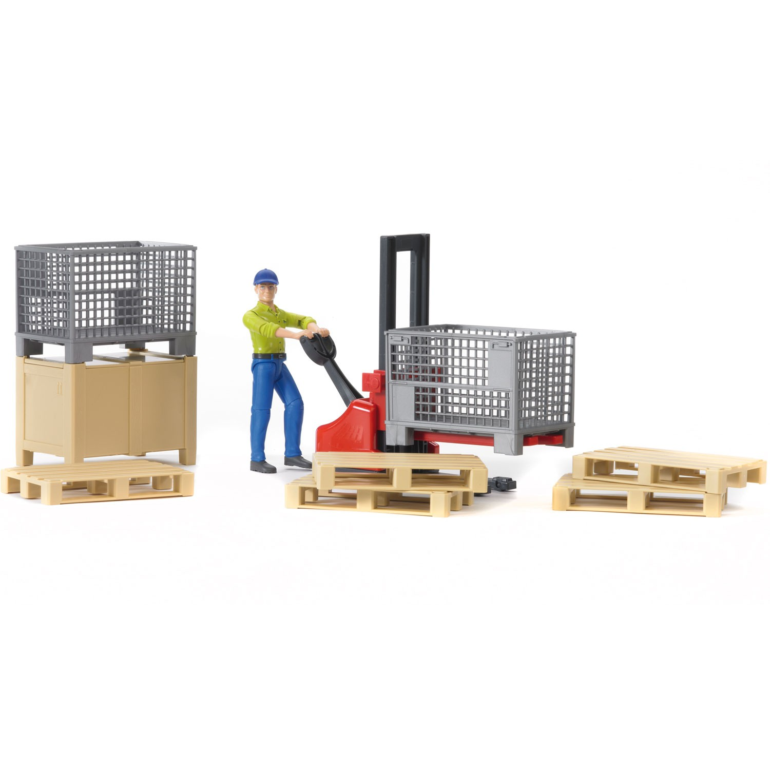 Bruder #62200 Logistics Set with Man! NEW!