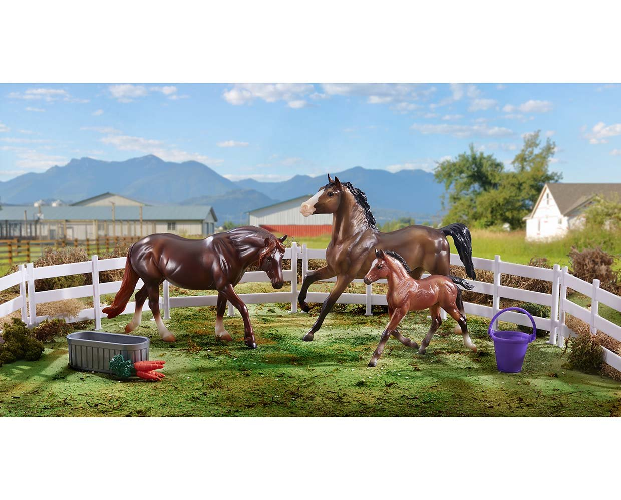 Breyer Horse Classics Collection #62200 Pony Power Classic 3 Horse Set - New Factory Sealed