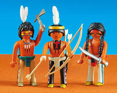 Playmobil Add On #6272 3 Native American Warriors - New Factory Sealed