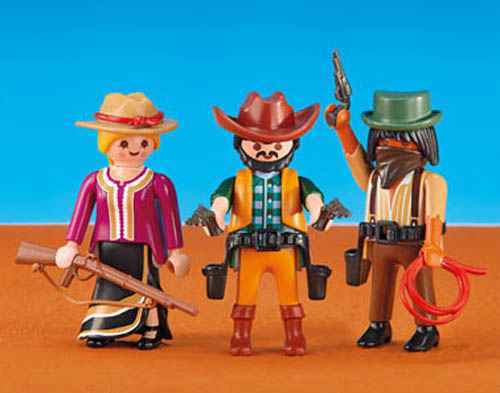 Playmobil Add On #6278 Cowboys (2) and Cowgirl! -New-Factory Sealed