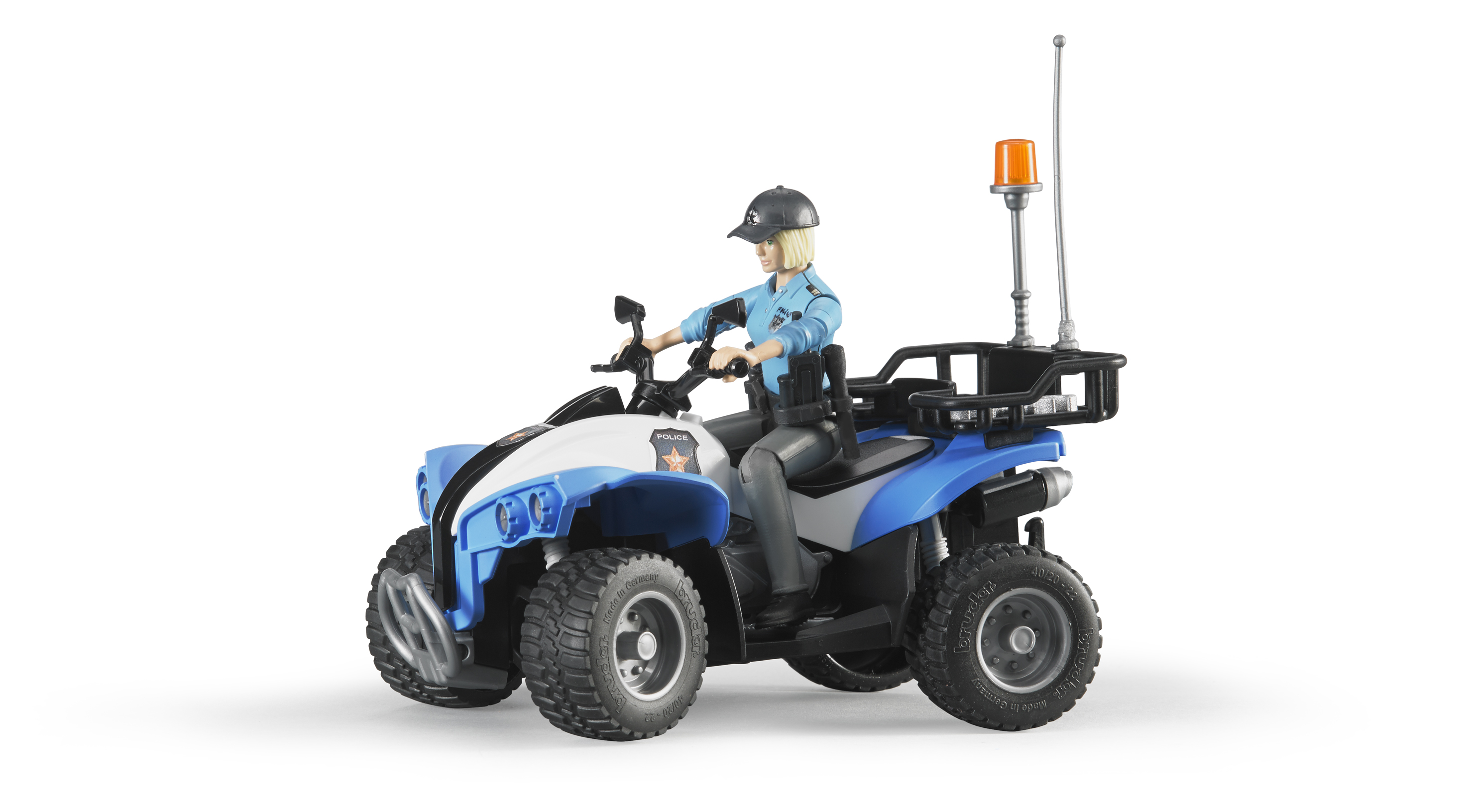 Bruder #63010 Police Quad with Policewoman - New Factory Sealed
