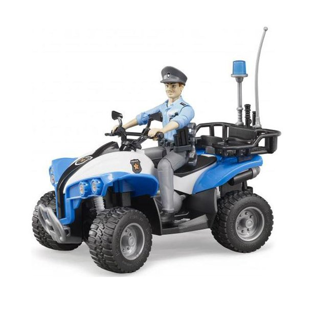 BRUDER #63011 Police Quad w/ Light Skin Police & Access NEW!