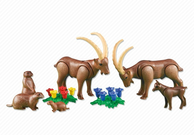 Playmobil Add On #6318 Alpine Animals - New Factory Sealed