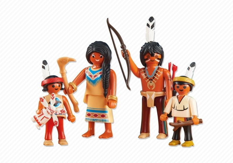 Playmobil Add On #6322 Native American Family - New Factory Sealed