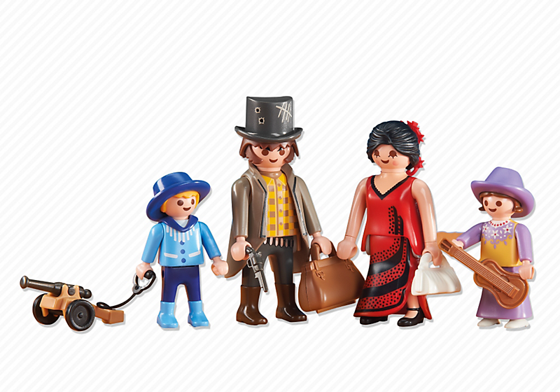 PLAYMOBIL Add On #6323 Western Family! NEW!