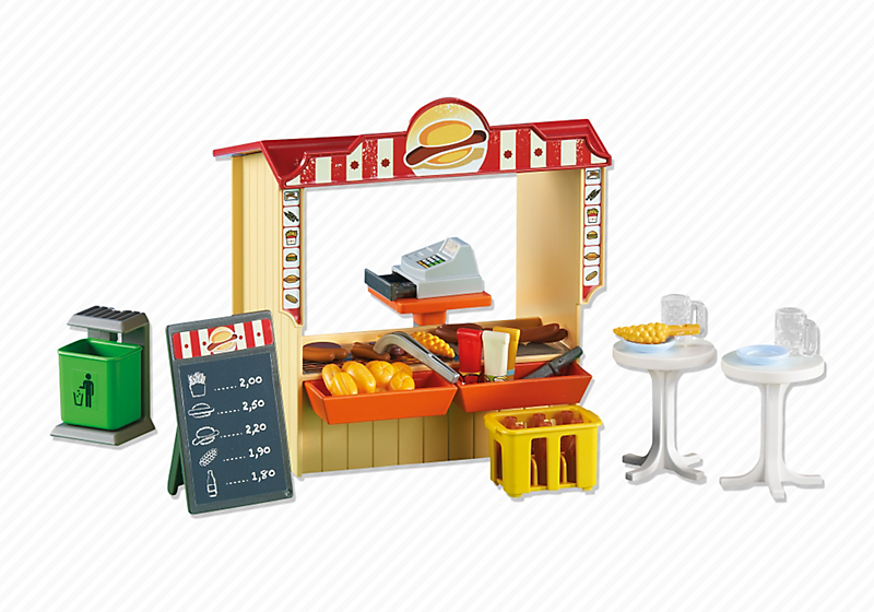 PLAYMOBIL Add On #6336 RETIRED Snack Bar! NEW!