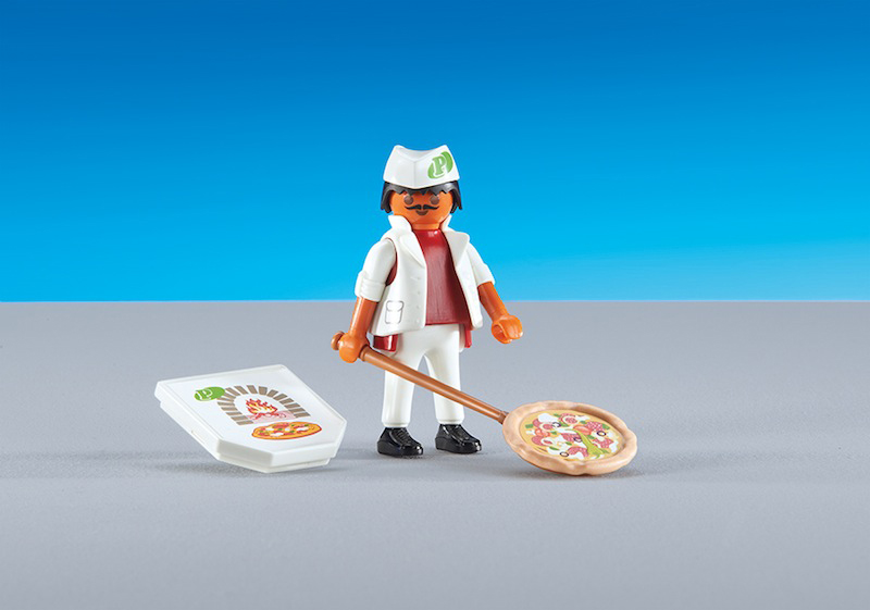 Playmobil Add On #6392 Pizza Baker -New-Factory Sealed!
