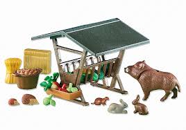 Playmobil Add On #6470 Woodland Trough Hay Rack - New Factory Sealed
