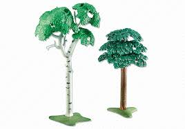 Playmobil Add On #6472 Two Deciduous Trees - New Factory Sealed