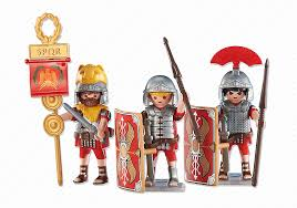 Playmobil Add On #6490 3 Roman Legionnaire Soldiers - New Factory Sealed