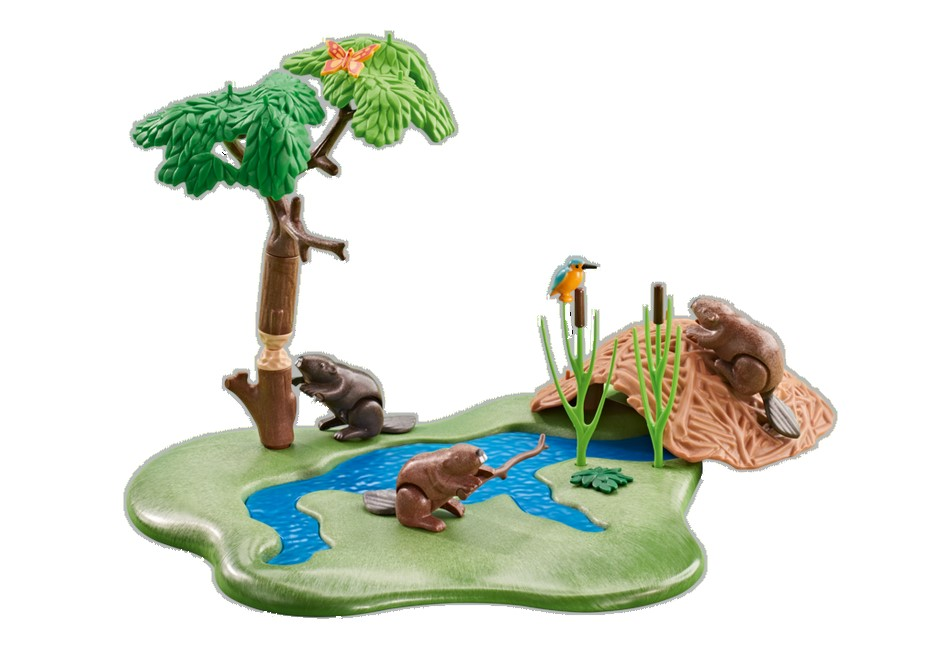 Playmobil Add On #6541 Beaver Lodge at the River - New Factory Sealed