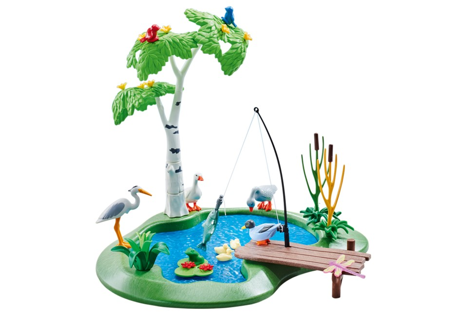 Playmobil Add On #6574 Fishing Pond - New Factory Sealed