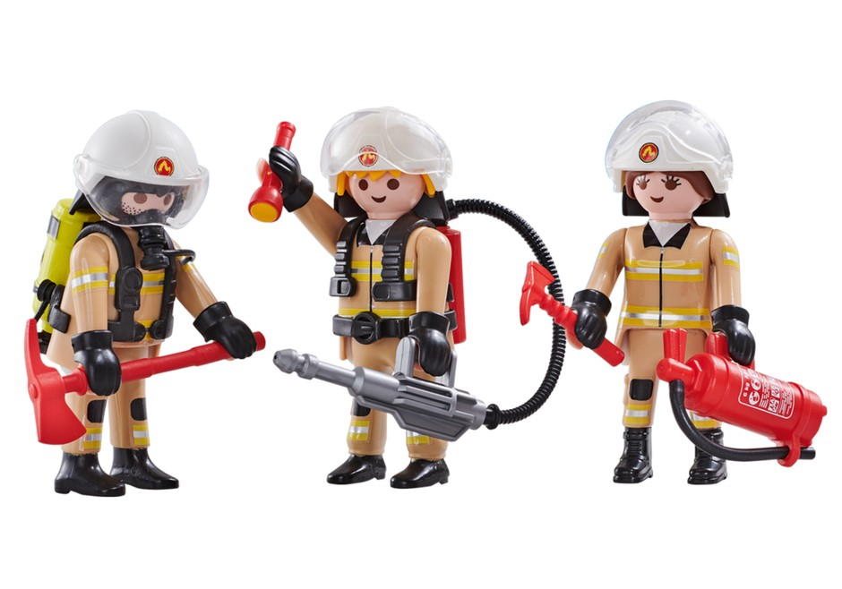 Playmobil Add On #6584 Fire Brigade A Firefighters - New Factory Sealed