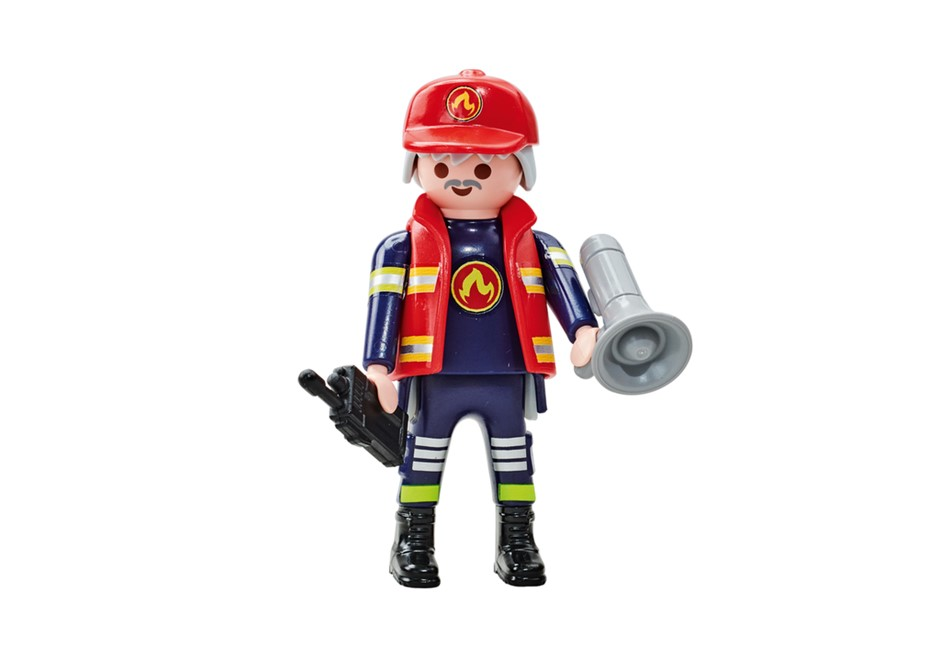 Playmobil Add On #6585 Fire Brigade B Captain - New Factory Sealed
