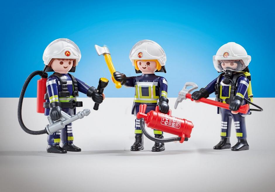 Playmobil Add On #6586 Fire Brigade B Firefighters - New Factory Sealed