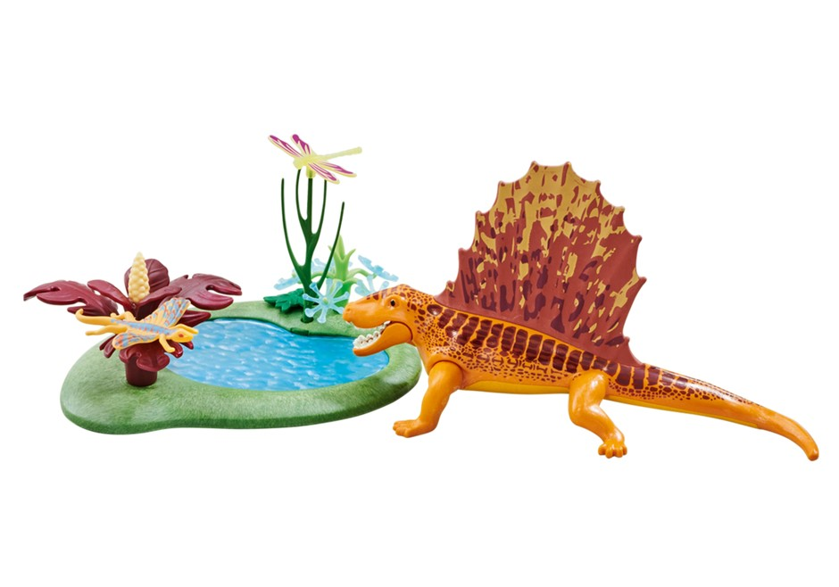 Playmobil Add On #6596 Dimetrodon with Pond - New Factory Sealed