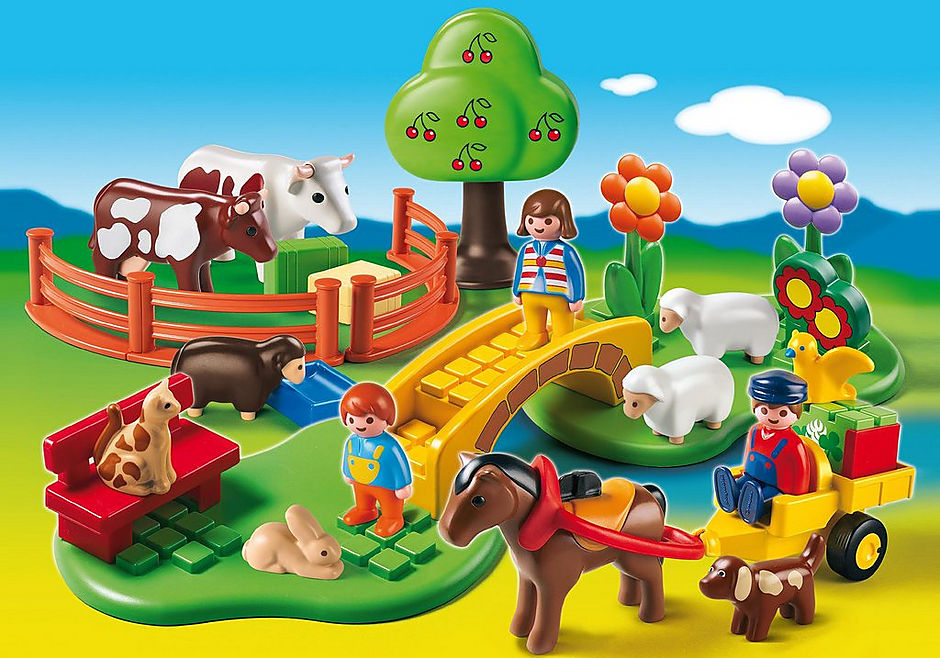 PLAYMOBIL #6770 1.2.3 Countryside Set New!