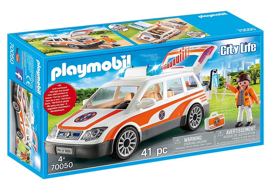 PLAYMOBIL #70050 Emergency Car w/ Siren NEW!