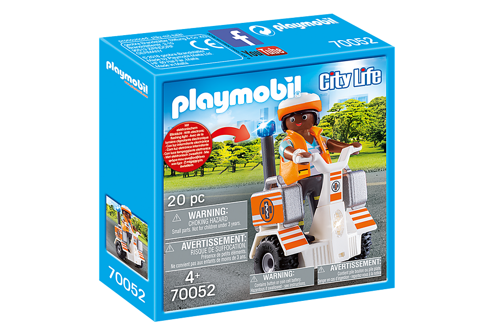 PLAYMOBIL #70052 Rescue Balance Racer NEW!