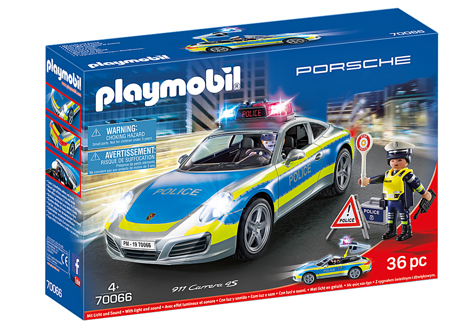 PLAYMOBIL #70066 Porsche 911 Carrera Police New!