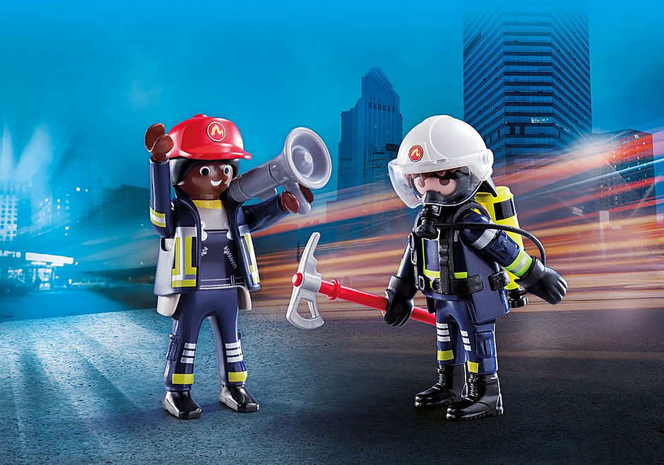 Playmobil #70081 Rescue Firefighters Duo Pack - New Factory Sealed