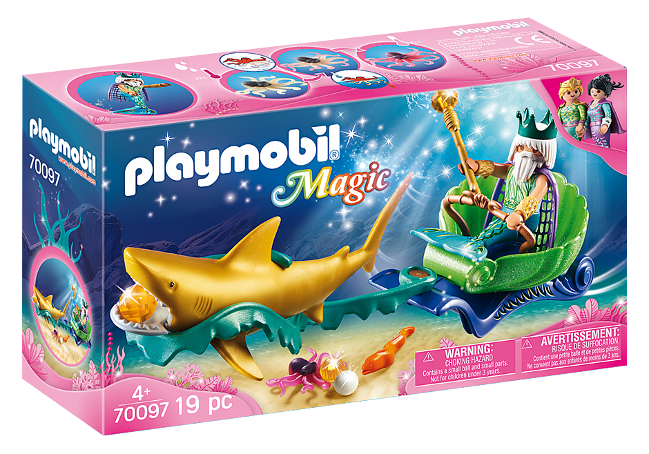 Playmobil #70097 King of the Sea with Shark Carriage - New Factory Sealed