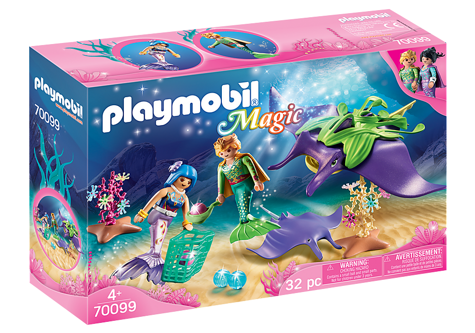 Playmobil #70099 Pearl Collectors with Manta Ray - New Factory Sealed