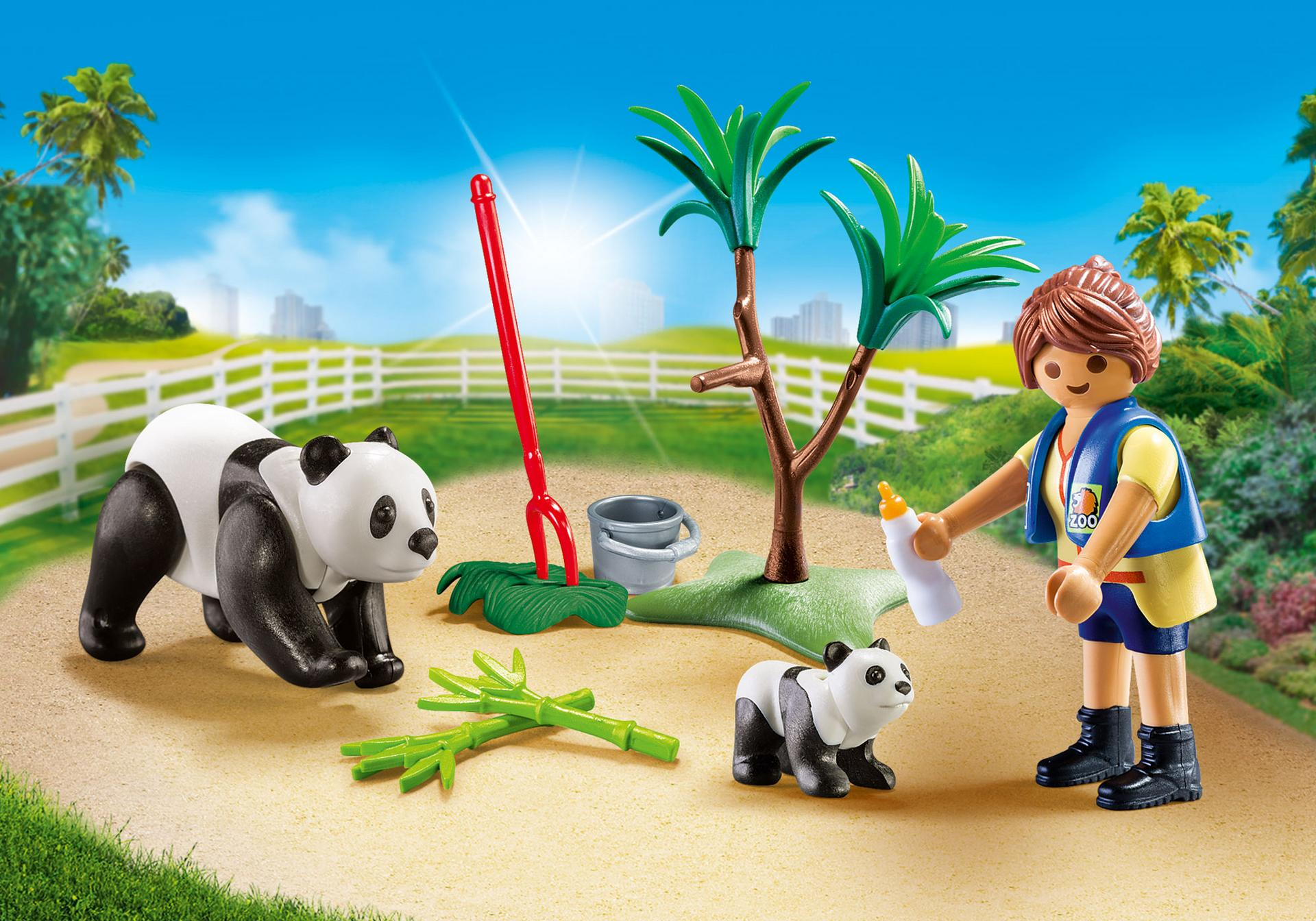 Playmobil #70105 Panda Caretaker Carry Case - New Factory Sealed