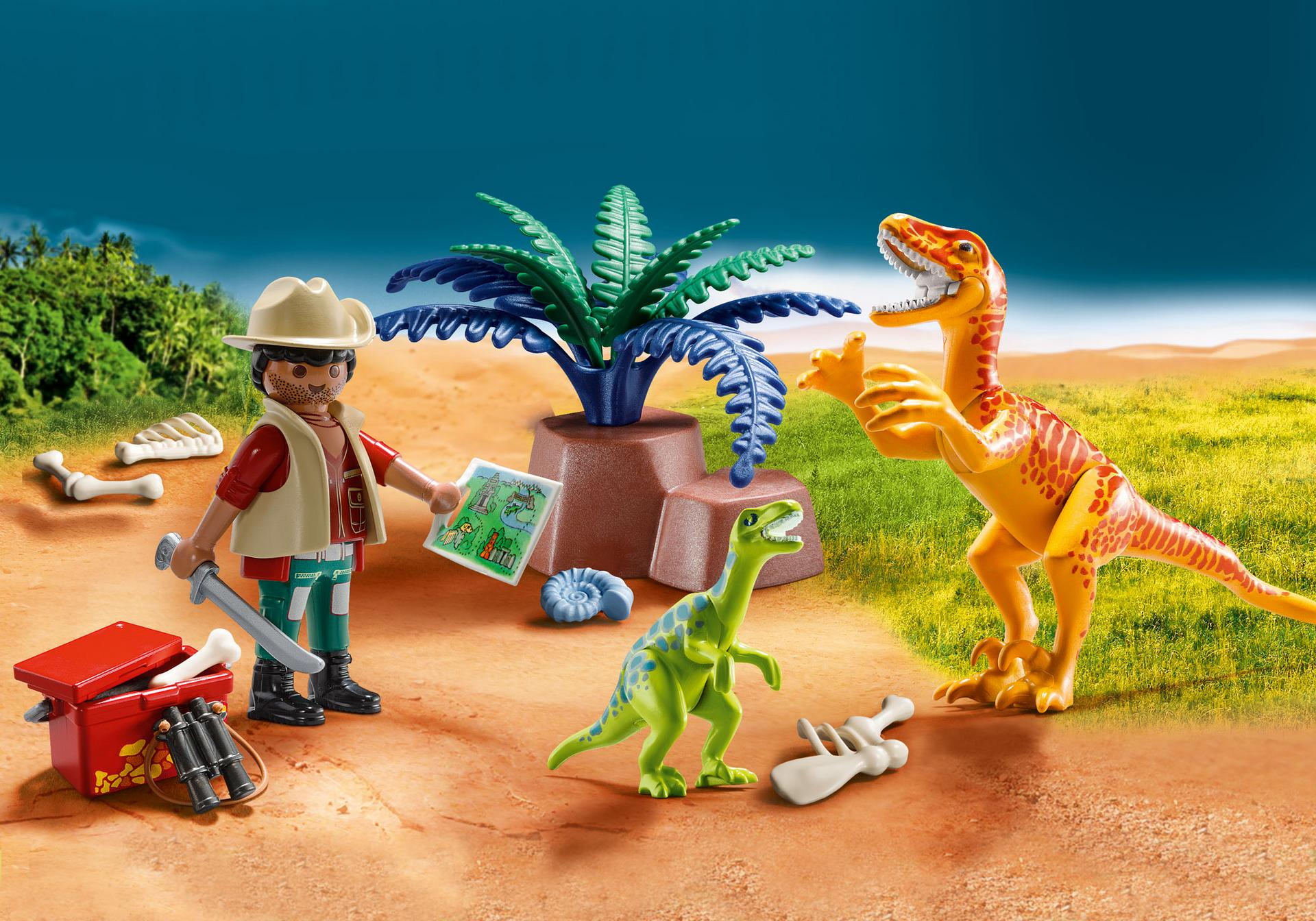 Playmobil #70108 Dino Explorer Carry Case - New Factory Sealed