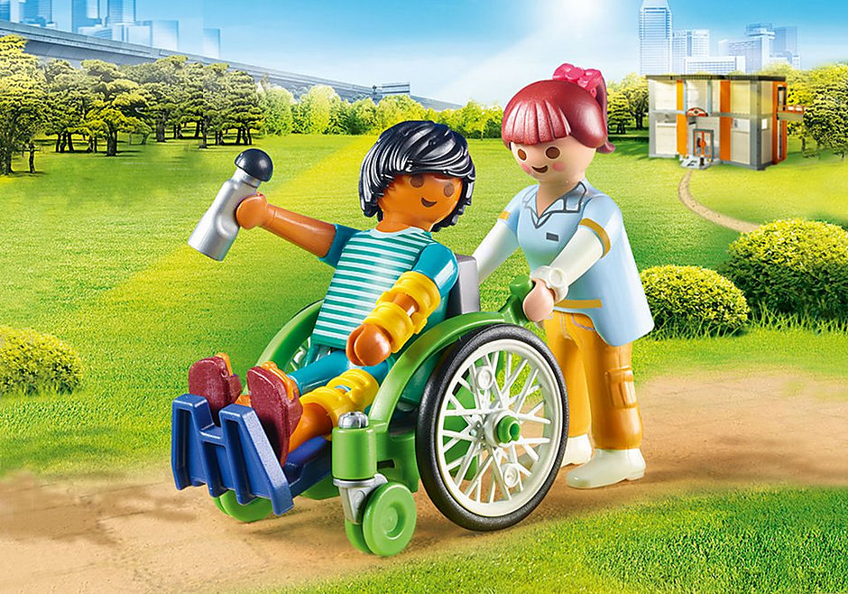 PLAYMOBIL #70193 Patient in Wheelchair NEW!