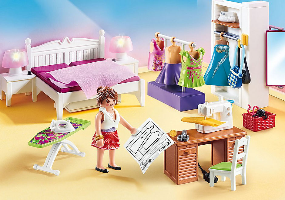 PLAYMOBIL #70208 Bedroom with Sewing Corner NEW!