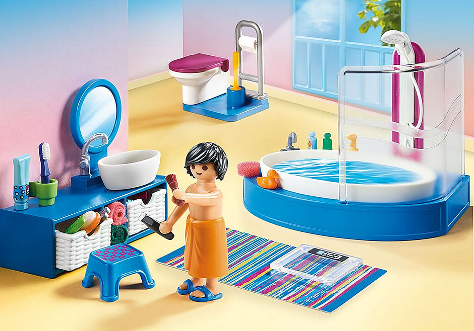 PLAYMOBIL #70211 Bathroom w/ Tub NEW!