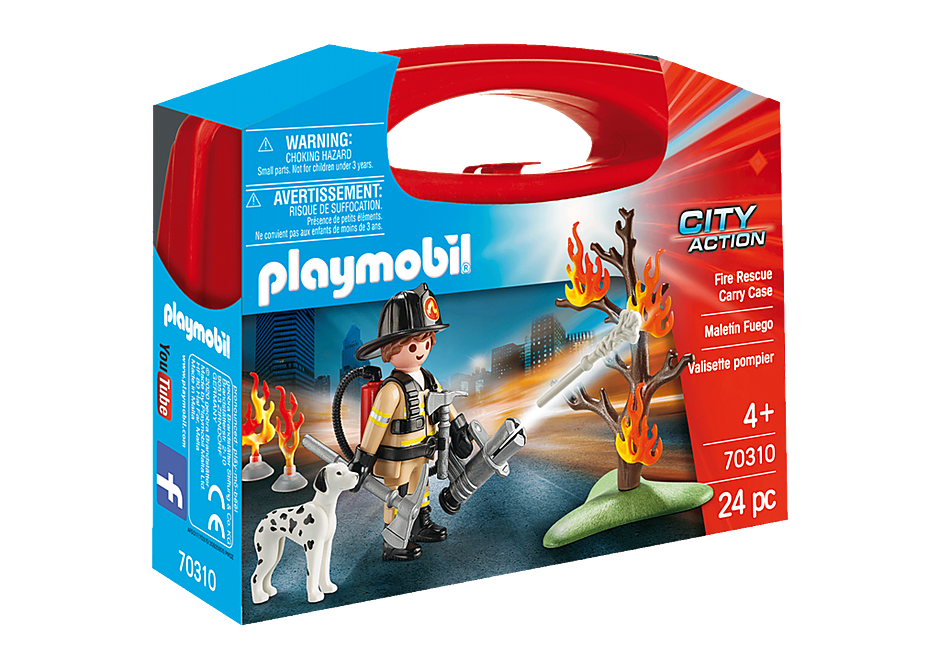 Playmobil #70310 Fire Rescue Carry Case - New Factory Sealed