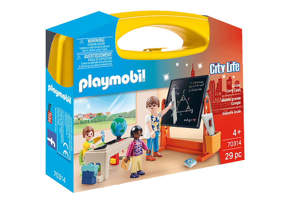 Playmobil #70314 School Carry Case - New Factory Sealed