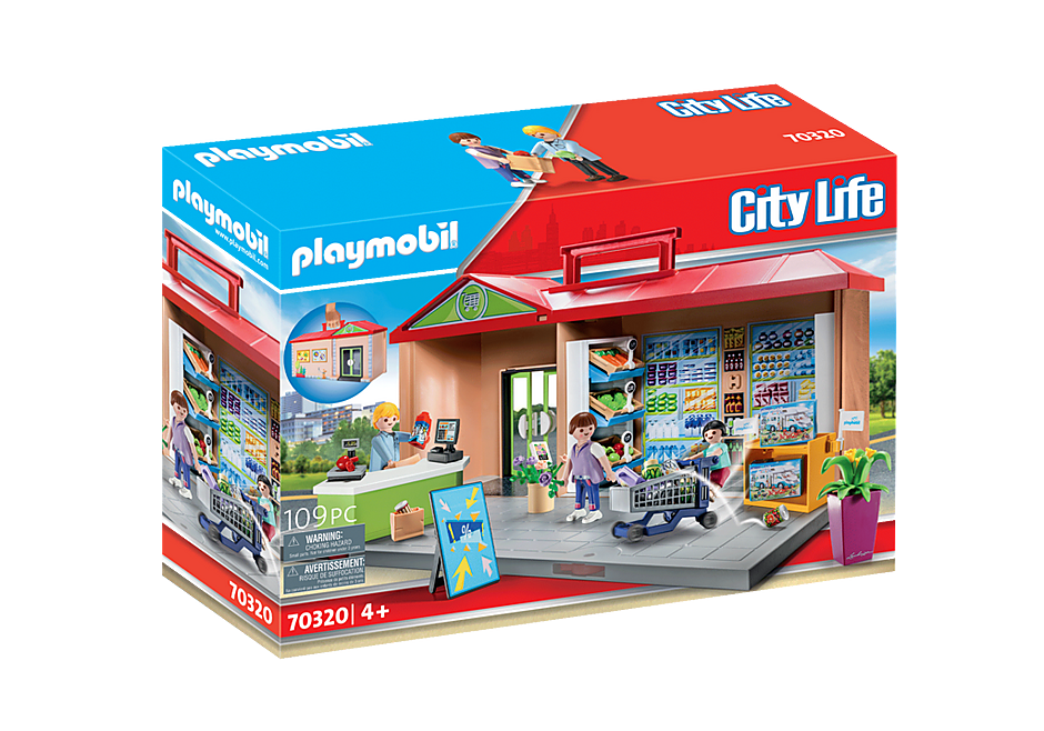 PLAYMOBIL #70320 Take Along Grocery Store NEW!