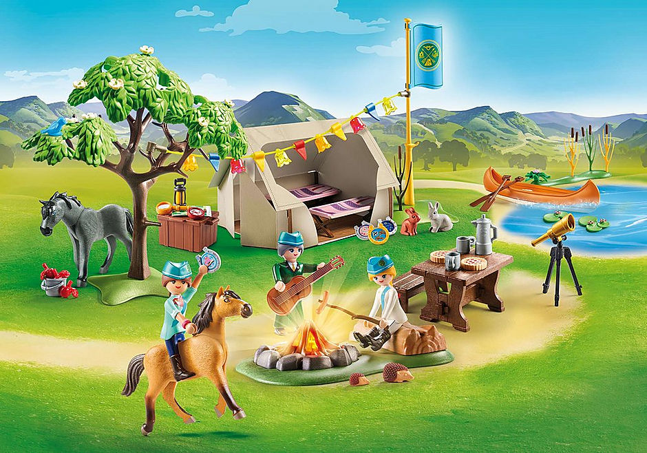 PLAYMOBIL #70329 Summer Campground New in Box!