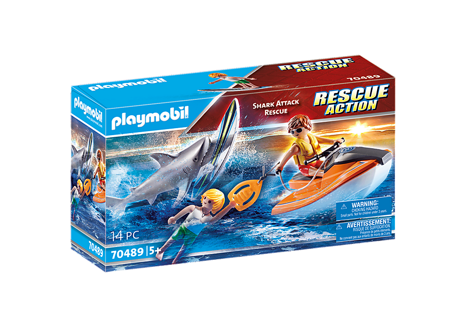 PLAYMOBIL #70489 Shark Attack Rescue NEW!