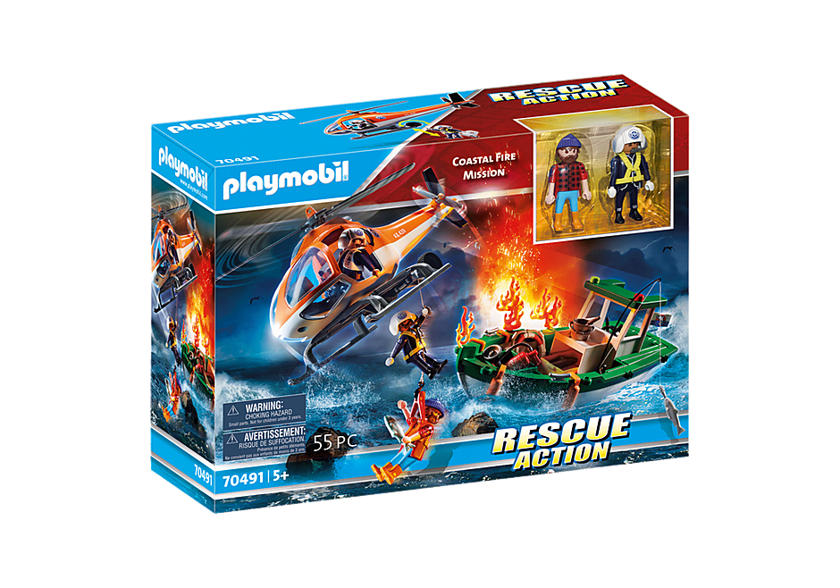PLAYMOBIL #70491 Coastal Fire Rescue Mission NEW!