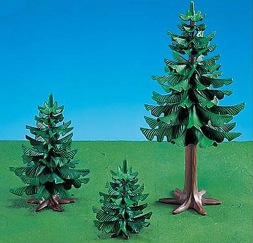 Playmobil Add On #7725 Pine Trees! -New-Factory Sealed