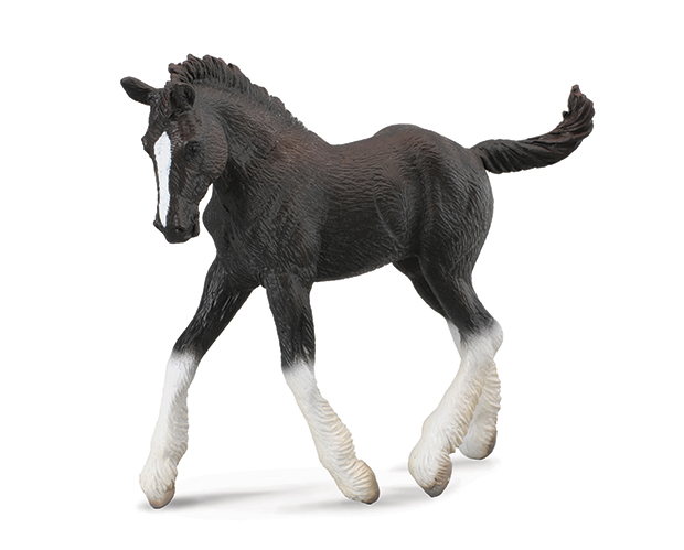 BREYER CORRAL PALS BLACK SHIRE FOAL #88583