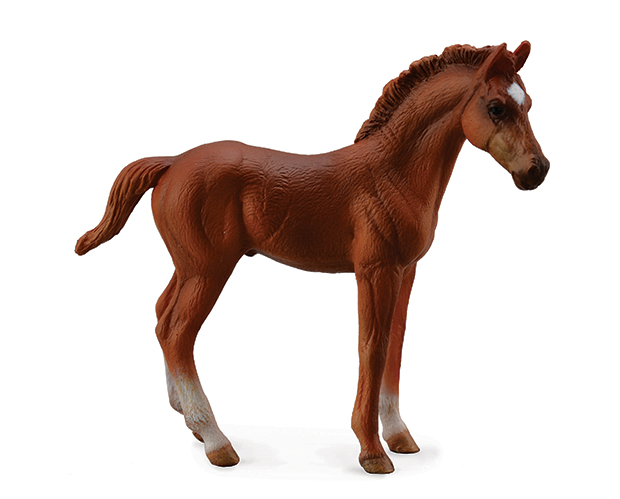 BREYER CORRAL PALS CHESTNUT THOROUGHBRED FOAL - STANDING #88671