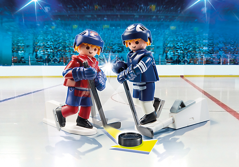 Playmobil #9013 NHL Rivalry Blister Pack - Toronto Maple Leafs vs Montreal Canadiens - New Factory Sealed