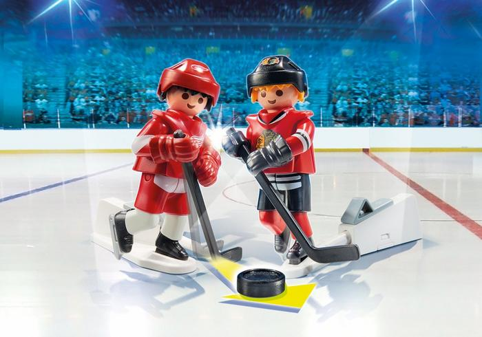 Playmobil #9014 NHL Rivalry Series Chicago Blackhawks vs Detroit Red Wings - New Factory Sealed