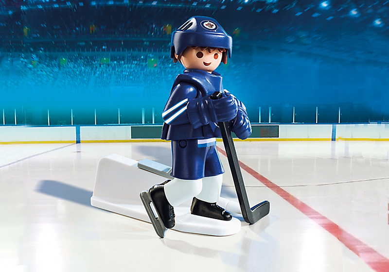 Playmobil #9021 NHL Winnipeg Jets Player - New Factory Sealed