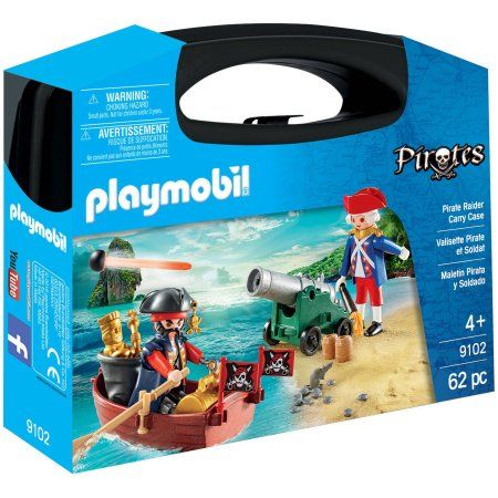 Playmobil #9102 Pirate Raider Carry Case - New Factory Sealed