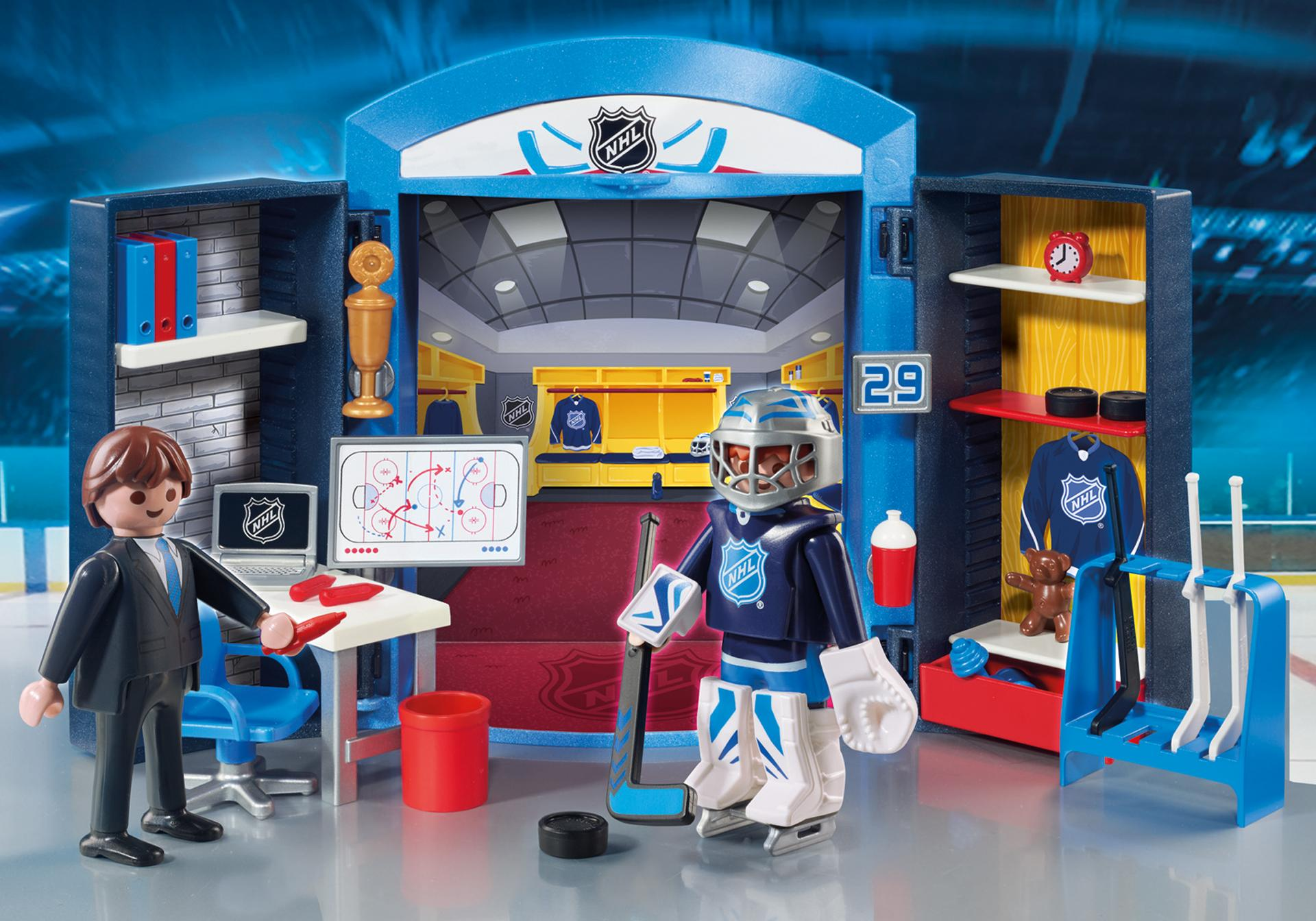 Playmobil #9176 NHL Locker Room Play Box - New Factory Sealed