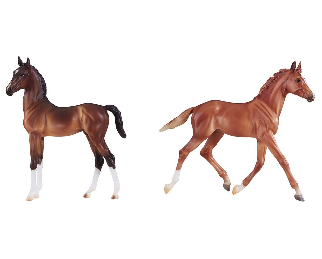 Breyer Traditional Horse #9198 BEST OF BRITISH FOAL SET - THOROUGHBRED & HACKNEY - New Factory Sealed