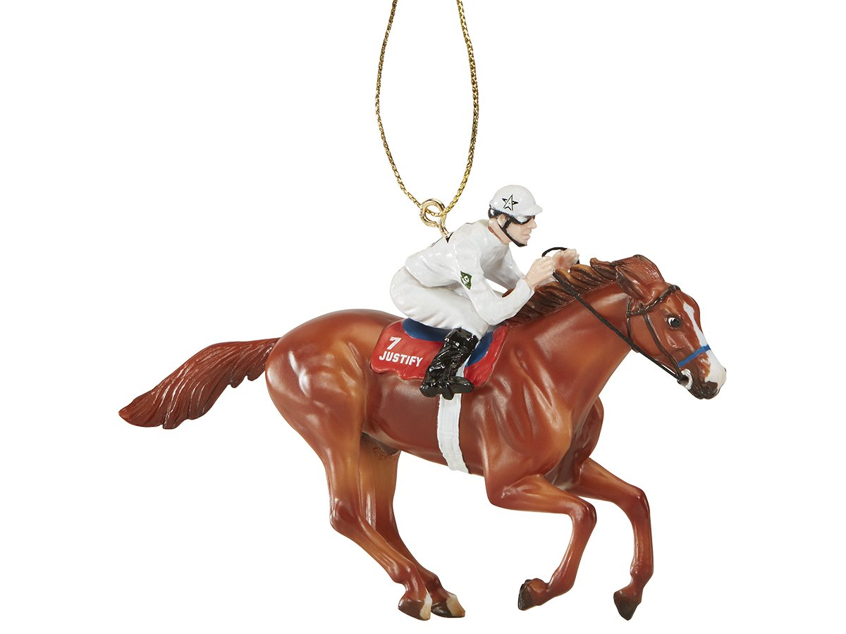 Breyer Holiday Collection #9303 Justify - Triple Crown Winner - White WinStar Jockey Silks - New Factory Sealed