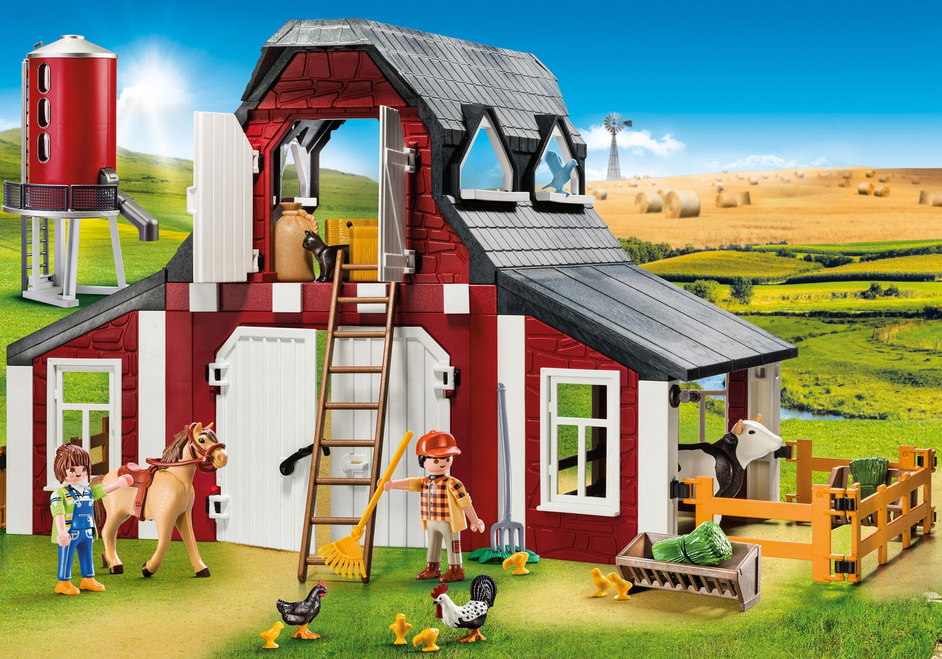 Playmobil #9315 Barn with Silo - New Factory Sealed