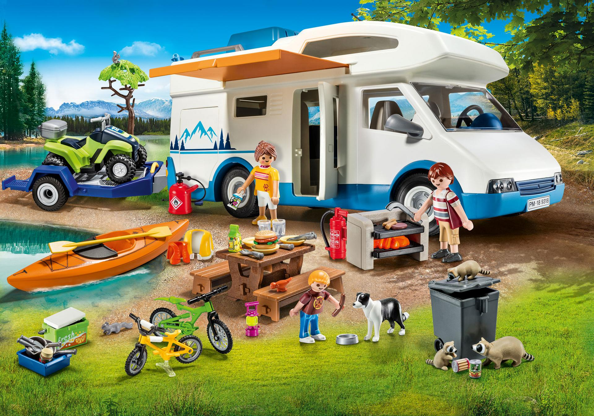Playmobil #9318 Camping Adventure - New Factory Sealed
